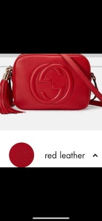GUCCI  Soho small leather disco bag red leather