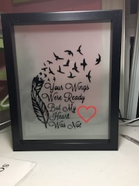 your wings were ready but my heart was not-printed wall decor