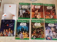 Set of 6 Star Wars level 1 books with box as brand new all $10 Hamilton, L8V 4K6