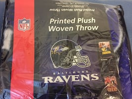 Baltimore Ravens Printed Plush Woven Throw