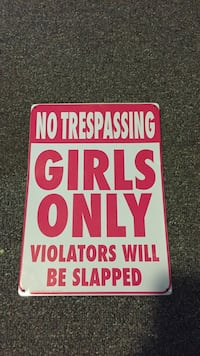 red and white No trespassing  girls only signage Taneytown, 21787