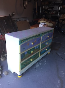 Dresser with mirror for girls room