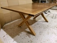 Solid White Oak Table Brand New