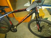 black and red hard tail mountain bike Vancouver, V6H