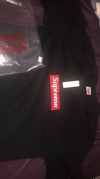 black and red Supreme crew-neck t-shirt Hensley, 72065