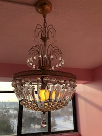 Crystal basket chandelier with glass drops Toronto, M2R 3N1