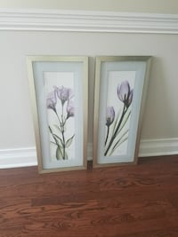 2 Purple Flower Prints w/ Mat and Silver Frame Chicago, 60654