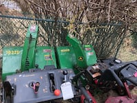 Two John deer snow blowers Arlington, 22209