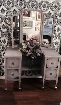 Lilac wooden dresser with mirror  Coquitlam, V3J 3X6