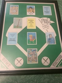 Antique Baseball card collage frame   Anchorage, 99504
