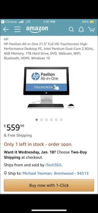 HP ALL IN ONE DESKTOP Brentwood, 94513