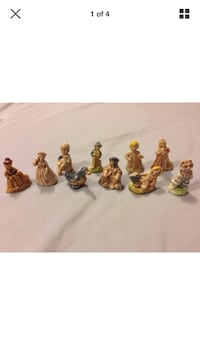 Vintage Red Rose Tea Figurines Lot x10 Nursery Rhymes: null, N0A