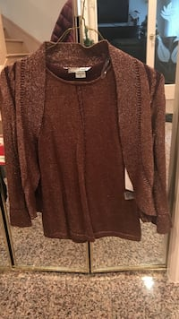 Brown top and cardigan