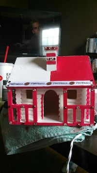 red and white Football design house miniature Gadsden, 35904