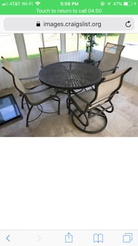 Heavy duty outside table and chairs payed over$1000 Port Orange