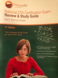 National OTA certification exam review and study guide.TherapyEd.NBCOT Palisades Park, 07650