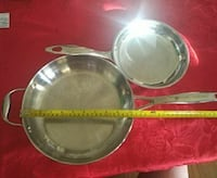 two stainless frying pans Dollard-des-Ormeaux, H9G