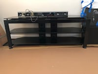 3 level tv stand. Hardly used. Glass shelves. Will throw in Samsung sound bar   Falls Church, 22042