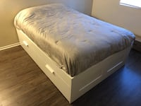 White Full Sized Bed Frame  Long Beach, 90813