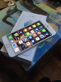 Silver iPhone 6s Plus with box