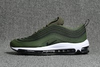 Nike Air Max 97 Army Green Black White MAX97 Running Shoe LOSANGELES