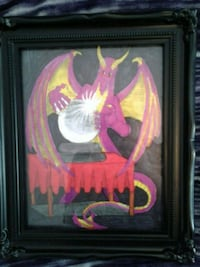 Framed dragon artwork Maple Ridge