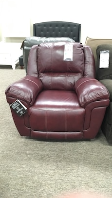 Ashley ox blood leather recliner GV052417