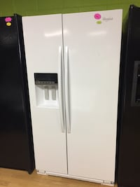 Whirlpool white side by side refrigerator  Woodbridge, 22191
