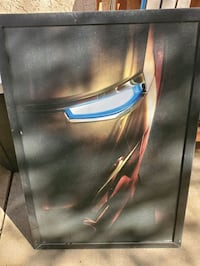 Iron man poster, picture frame