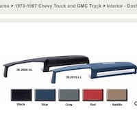 Chevy or GMC Truck Molded Dash Cover San Juan, 78589