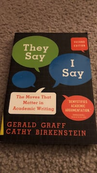 They say I say by Gerald Graff book West Fargo, 58078