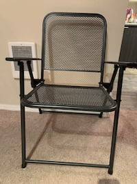 Folding chairs metallic black (2)