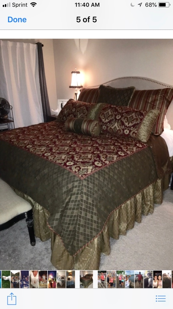 Eastern Accents King Bedding Set. Mattress Not Included
