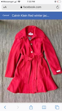 Calvin Klein Red wool coat Mississauga