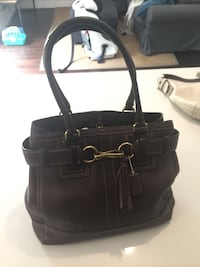 black leather 2-way handbag Langley
