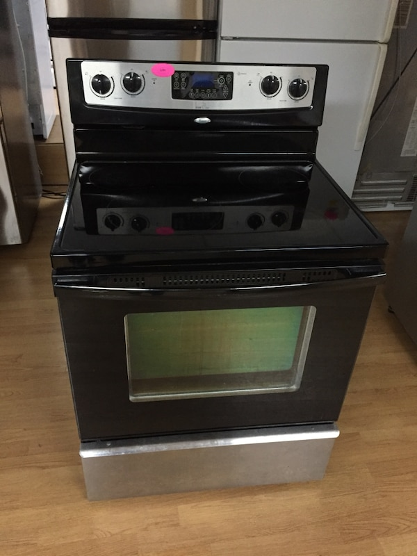Whirlpool stainless steel electric stove