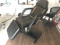 black leather padded rolling armchair Denver, 80249