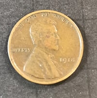 1918-S Lincoln Penny. Scarce Date Redding, 96002