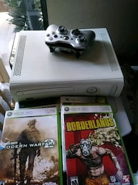 white Xbox 360 console with controller and game ca California, 91402
