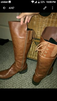 Long brown leather boots. Size 9 1/2 Houston, 77042