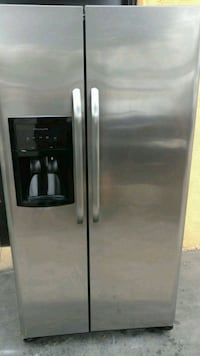 silver side-by-side refrigerator Los Angeles, 91352