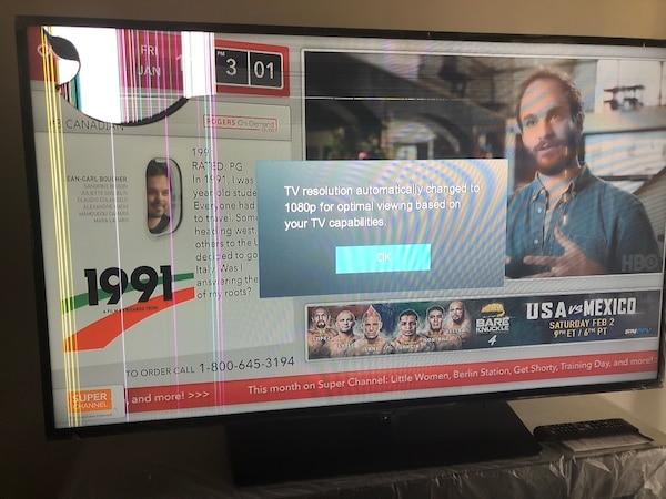 "58"" Samsung smart tv brand new cracked screen"