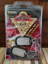 Yugioh collectible dog tags.