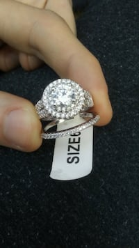 silver and diamond studded ring Edmonton, T5P