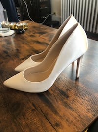 Ivory Satin 3.8 Inch Pointed Toe Wedding Heels from Lace and Favor (UK)