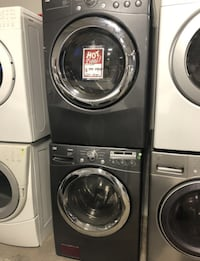 ❁LG F/L Washer and Dryer Set.Used.Gray/Stainless.  Levittown
