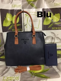 tote bag in pelle nera e marrone Florence, 50129