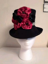 Red/Black Victorian Style Hat