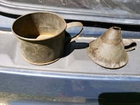 Tin cup and funnel Elizabethtown