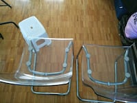 Two beautiful transparent dining chairs Montreal, H4N 1P1